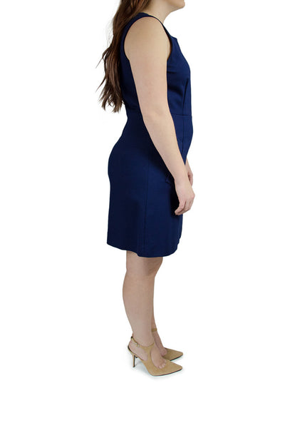 "Diane Von Furstenberg Navy ""Megan"" Sleeveless Sheath Dress"