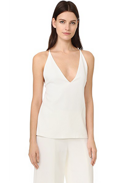 Dion Lee Cutout Silk Crepe de Chine Tank