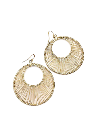 Circular Gold Statement Earrings