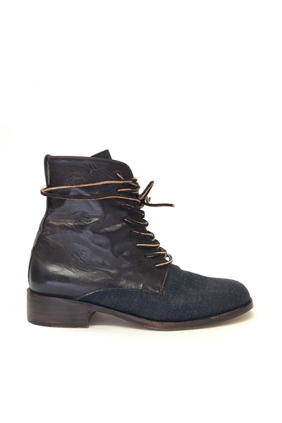 "Esquivel ""Dublin"" Leather and Denim Boot"