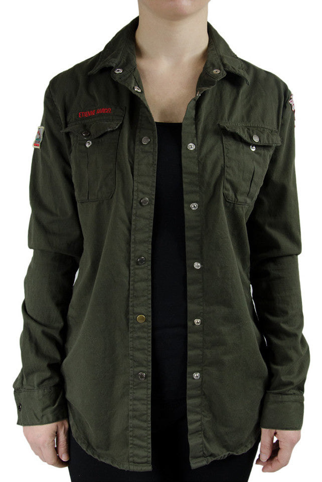 Etienne Marcel Military Army Shirt