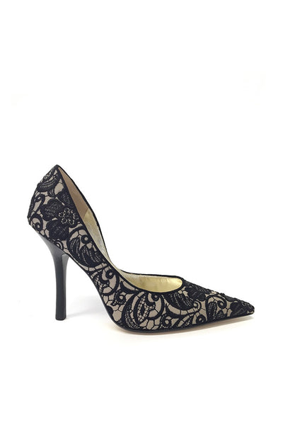 Guess Lace-Covered Pointed Pumps