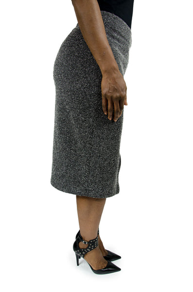 Halogen Black and White Front Zip Skirt