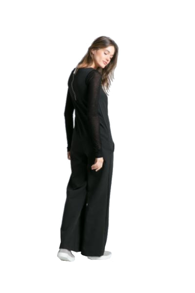 Marcellamoda Black Long Sleeve Jumpsuit