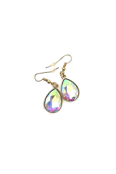 Iridescent Teardrop Earrings