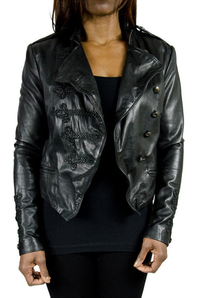 Muubaa Patara Genuine Leather Biker Jacket