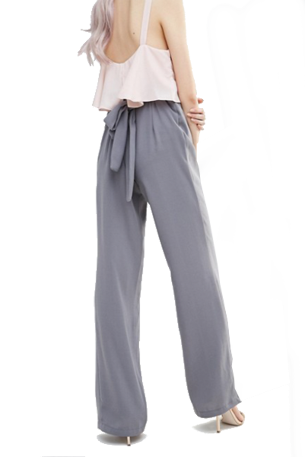 Alter Wide Leg Pant with Self Tie Belt