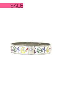 Coach Multi-Colored Signature Bangle