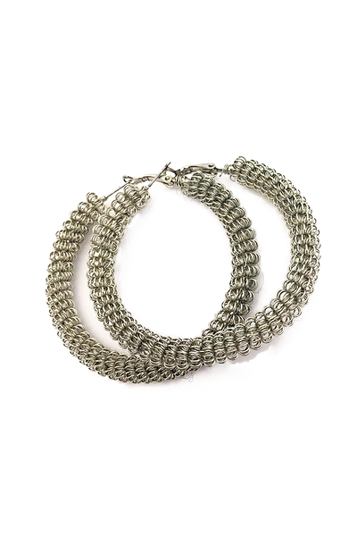 Not Your Average Hoop Earrings in Silver