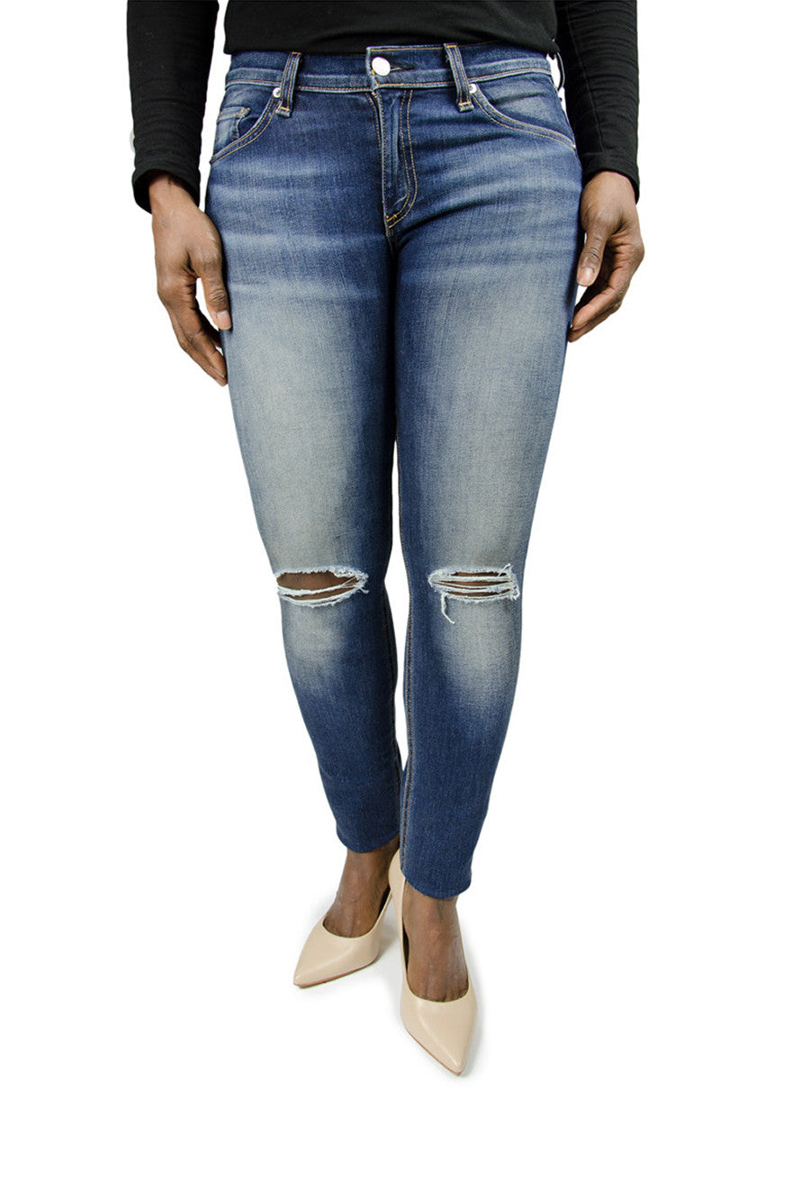 Rag & Bone Distressed Skinny Blue Jean
