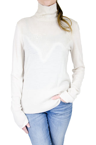 Rag & Bone Pumice Carolyn Turtleneck with Lace