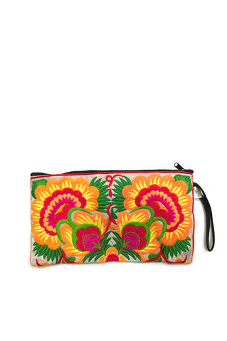 Sam Well Colorful Small Wristlet in Orange
