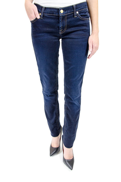 7 For All Mankind Dark Wash Skinny Jeans