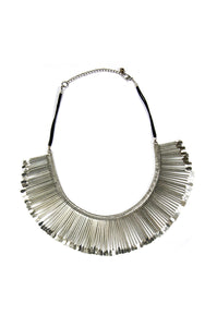 Silver Multi-Link Statement Necklace