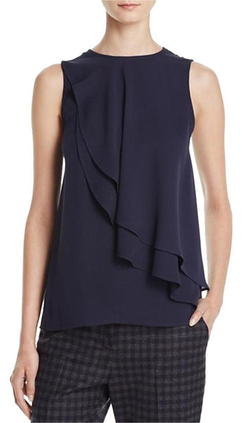 Theory 'Elmali' Tiered Silk Top