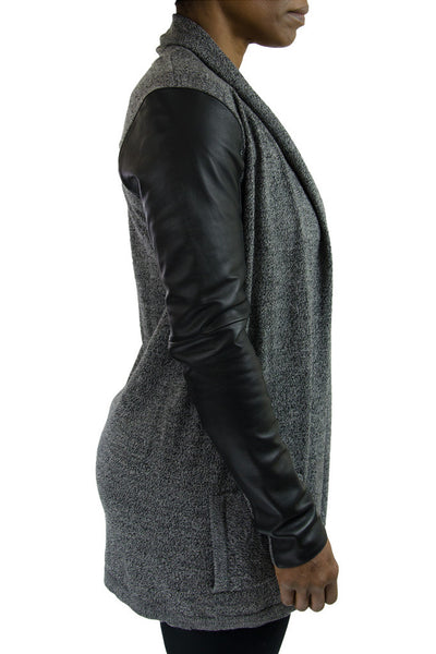 Theory Ashtry Black Marled Cardigan