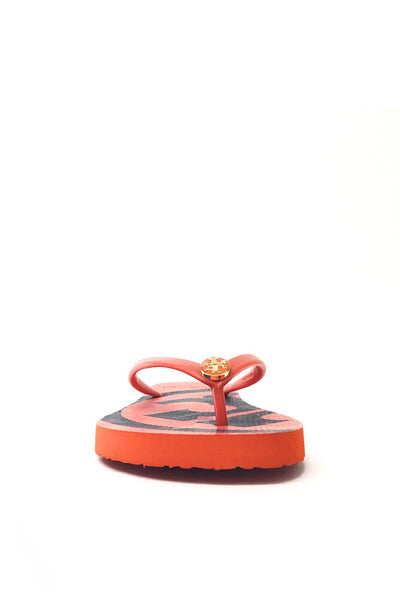 "Tory Burch Orange ""Emory"" Flip Flops"