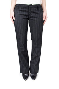 True Religion Black with White Pinstripe Pants