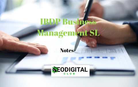 IBDP Business Management SL Notes