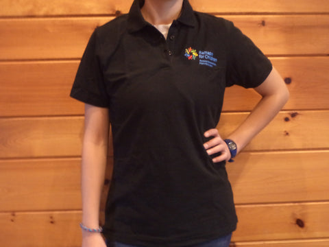 Women's Black Logo Polo - Adult