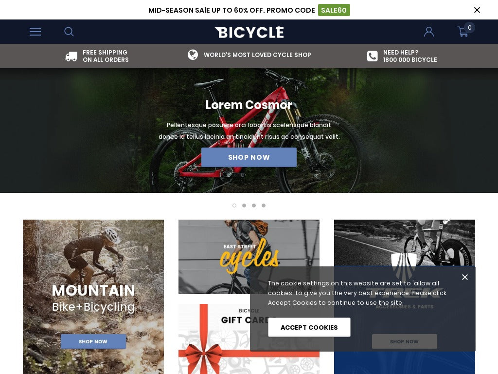 Bicycle Shopify Starter Dropship Ecommerce Website