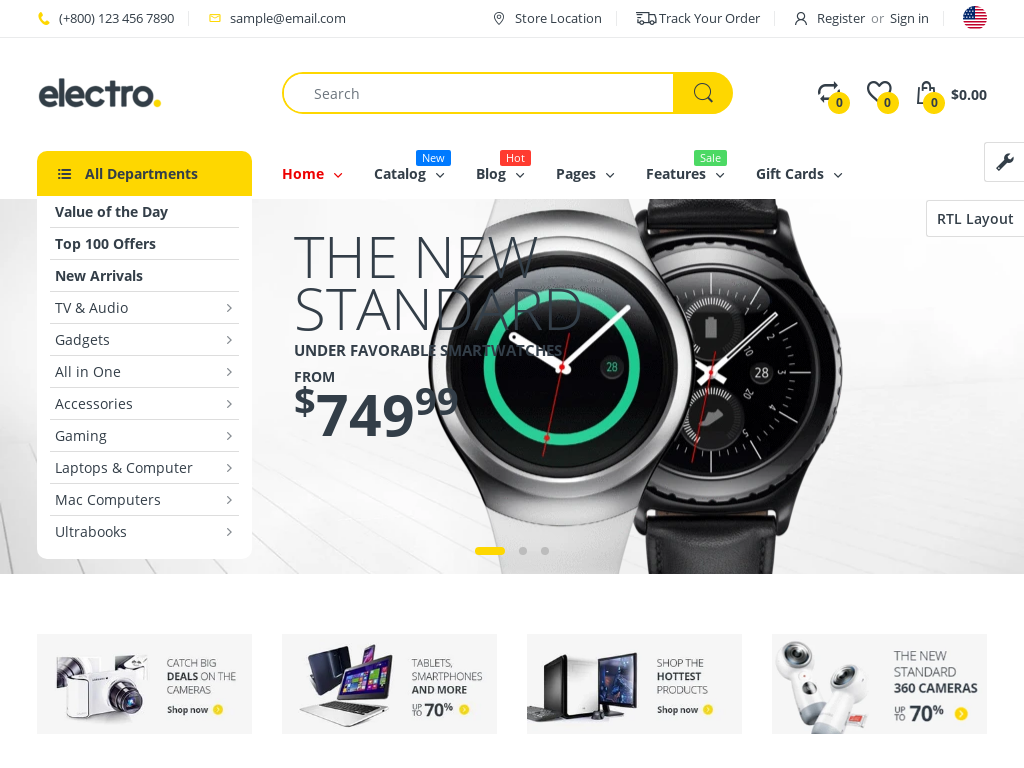 Electronics Shopify Starter Dropship Ecommerce Website
