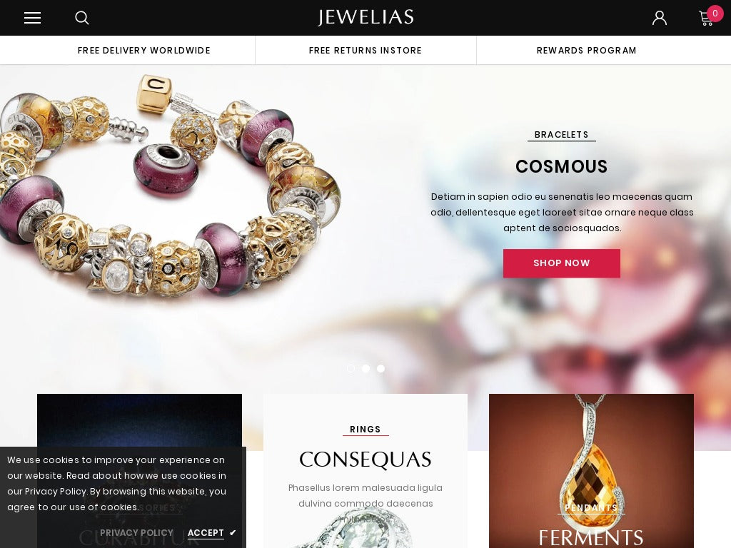 Jewelry Shopify Starter Dropship Ecommerce Website