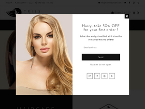 Hair Extension, Beauty Salon Shopify Starter Dropship Ecommerce Website