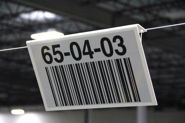 Warehouse Hanging Signs - All Barcode Systems