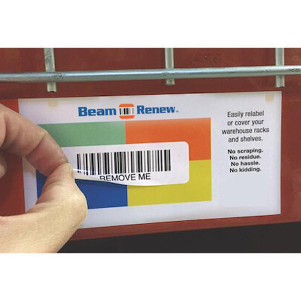 Warehouse Beam Renew Labels - All Barcode Systems