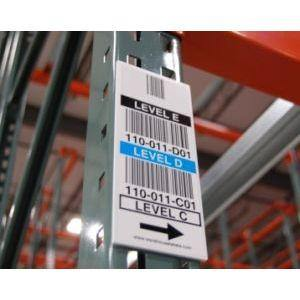 Warehouse Vertical Rack Bin Labels - All Barcode Systems
