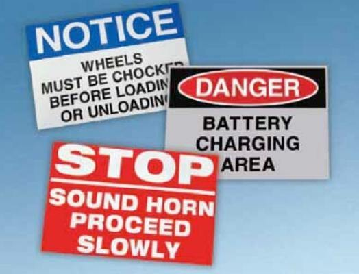 Warehouse Safety Signs - All Barcode Systems
