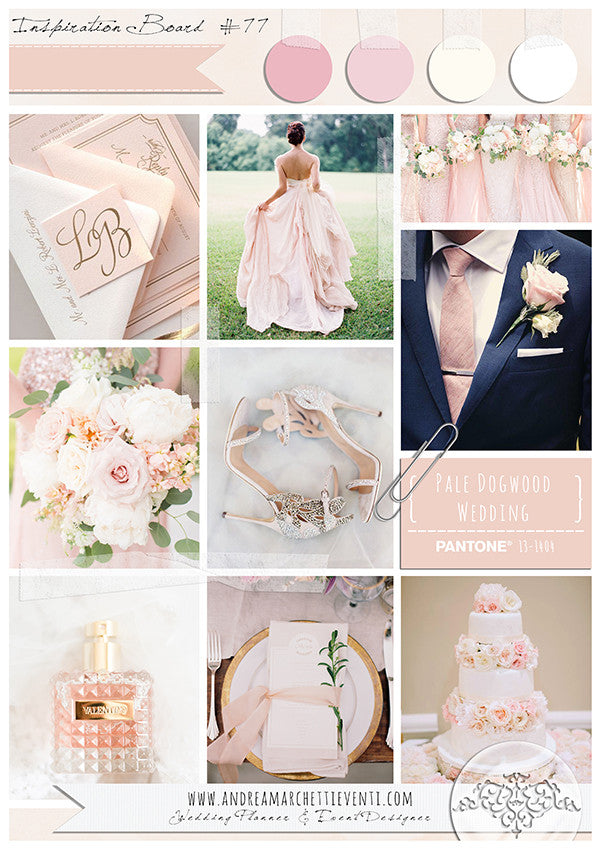 Pale Dogwood wedding inspiration