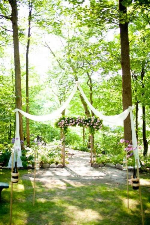 Outdoor wedding site