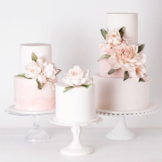 Blush wedding cakes