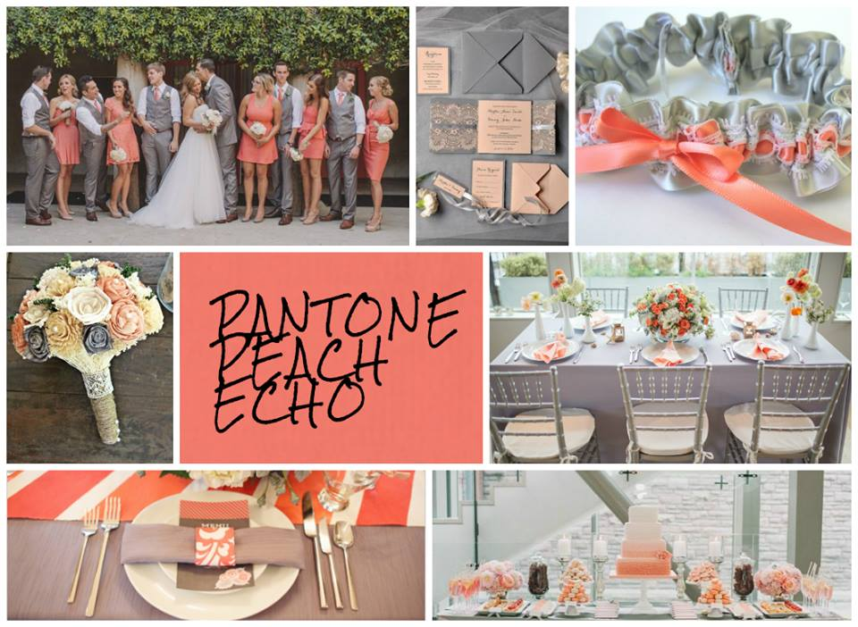 Pantone Peach Echo inspiration