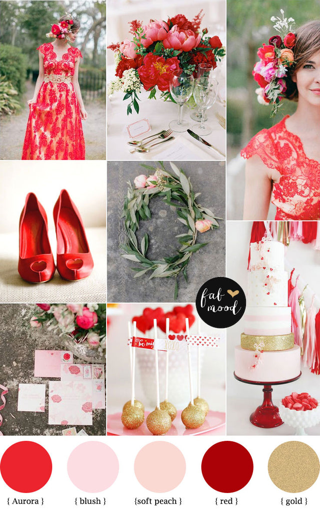 Aurora red wedding insprirarion