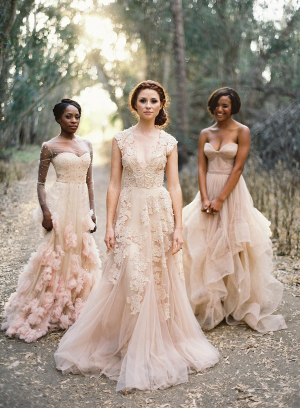 Blush wedding gowns