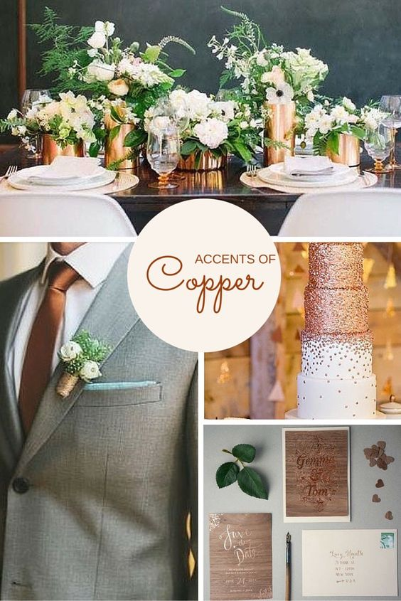 Copper Ideas And Inspiration For Weddings Jena Richards