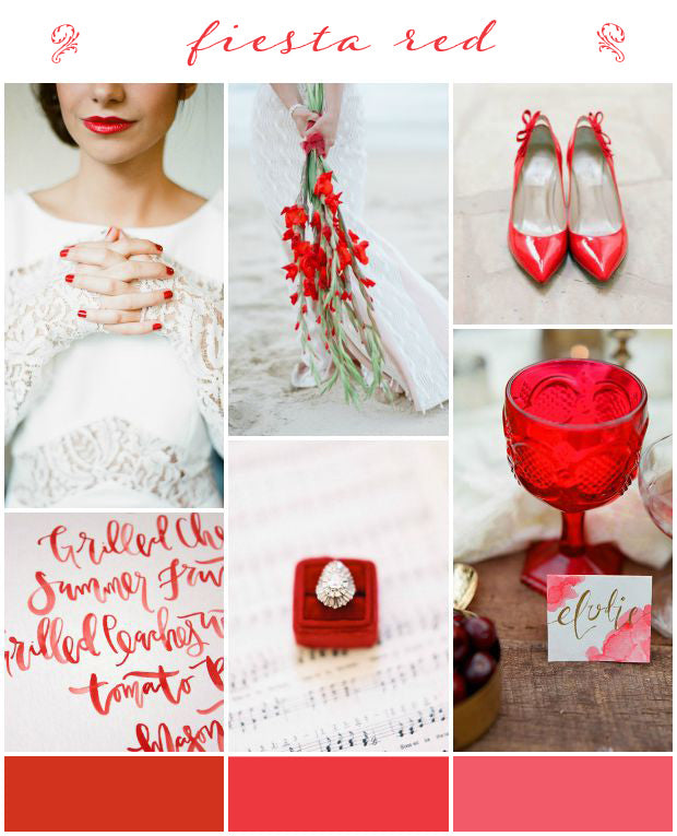 Fiesta Red wedding inspiration