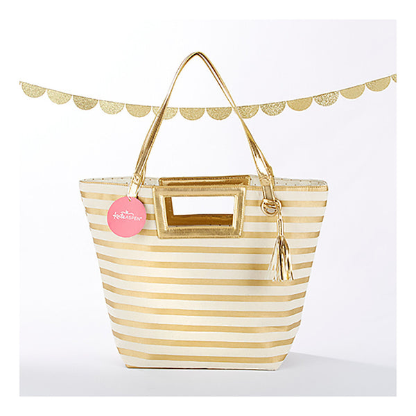 Gold striped bag