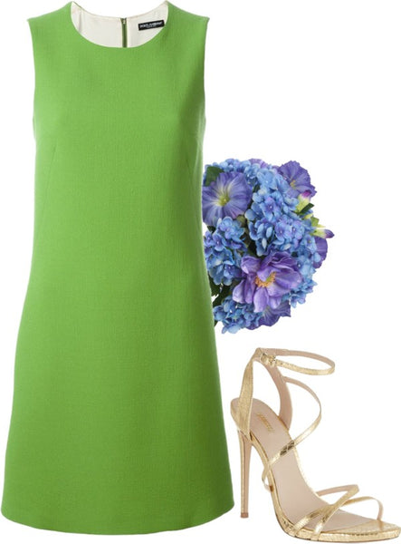 Green bridesmaid ensemble