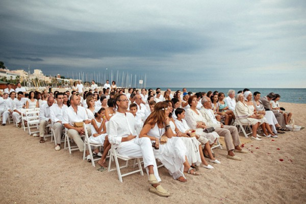 White reception by the sea