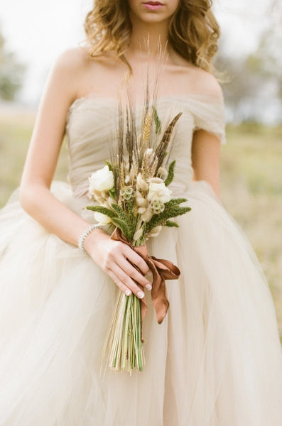 Neutral tulee bridal gown