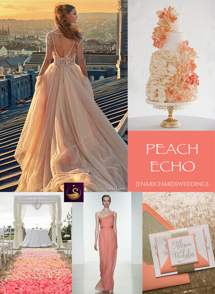 Peach Echo wedding ideas and inspiration