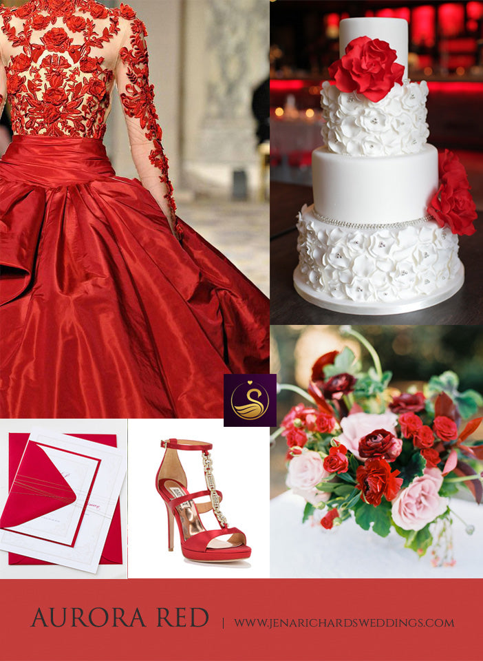 Aurora Red wedding inspiration