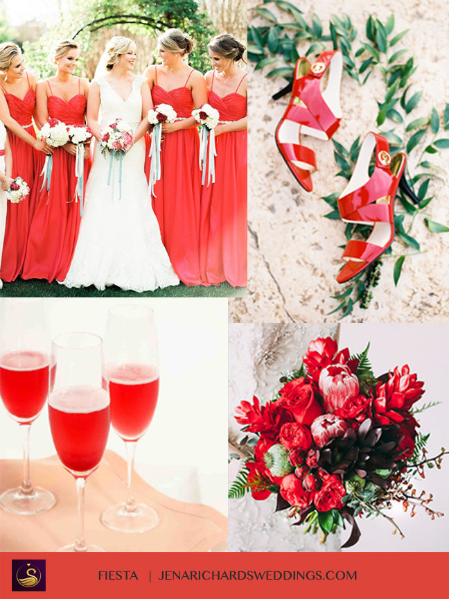 Fiesta Red wedding inspiration and ideas