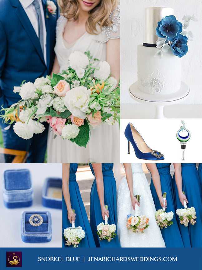 Snorkel Blue wedding inspiration board