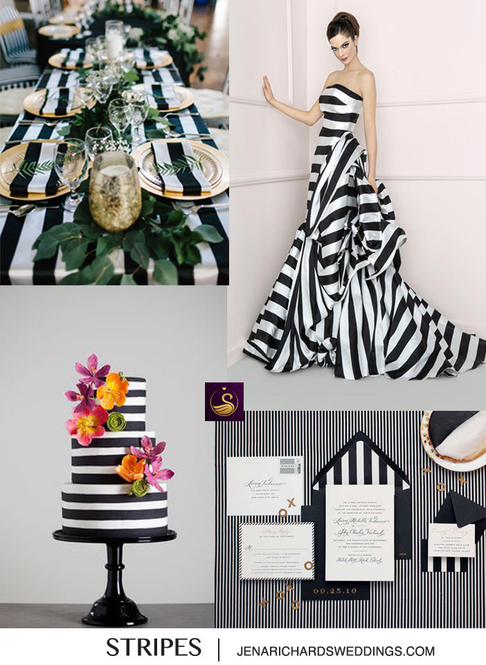 Chic ideas for using stripes in weddings
