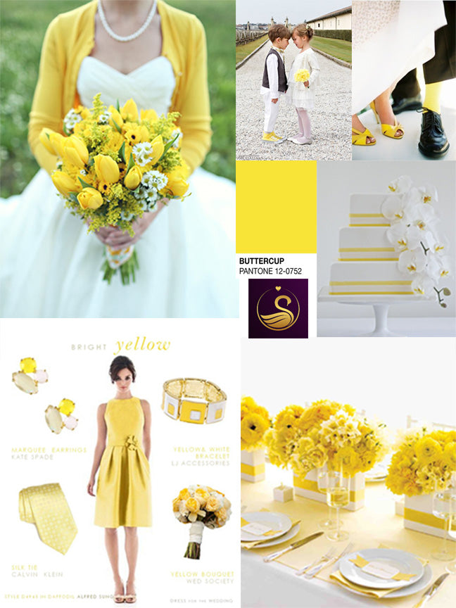 Buttecup yellow wedding ideas and inspiration